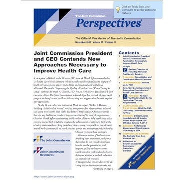 Clarifications Article from Perspective November 2013
