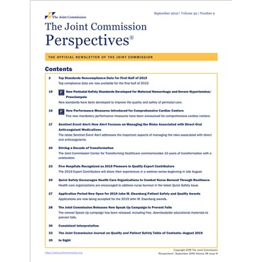 The Joint Commission Perspectives