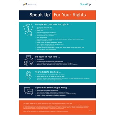 Speak UpTM For Your Rights posters