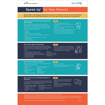 Speak Up For New Parents posters