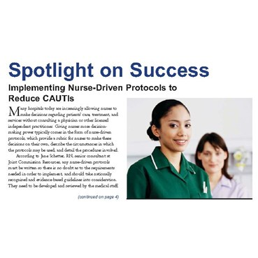 Spotlight on Success Implementing Nurse-Driven Protocols to Reduce CAUTIs