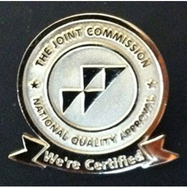 We're Certified pins