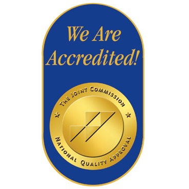 We Are Accredited brochures pins stickers