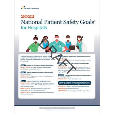 2022 National Patient Safety Goals Products badge buddies  posters